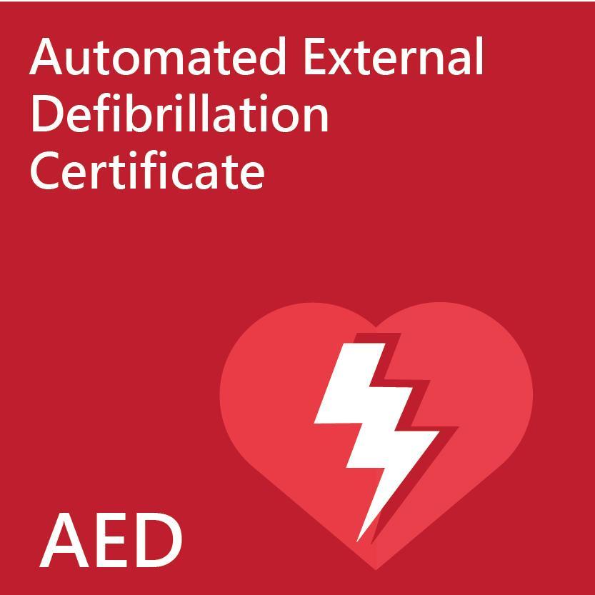 Hong Kong Red Cross Automated External Defibrillation Certificate