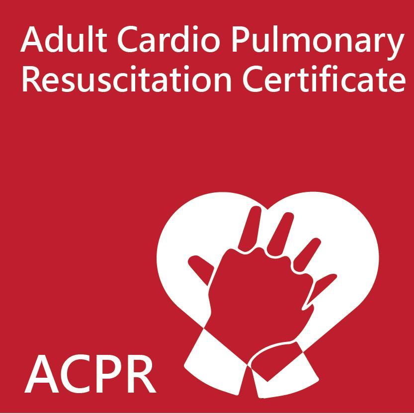 Hong Kong Red Cross Adult Cardio Pulmonary Resuscitation Certificate